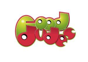 Food Dudes logo. Graphic design by Kieran O'Connor Design