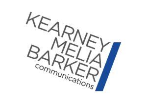 Kearney Melia Barker. KMB logo. Graphic design by Kieran O'Connor Design