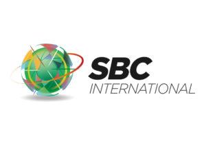 SBC International. SBC logo. Graphic design by Kieran O'Connor Design