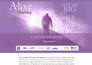 Alive Coaching website. Design and development by Kieran O'Connor Design, Cork, Ireland