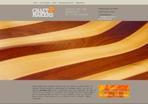Craftmakers website. Design and development by Kieran O'Connor Design, Cork, Ireland