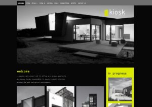 Kiosk Architects website. Design and development by Kieran O'Connor Design, Cork, Ireland