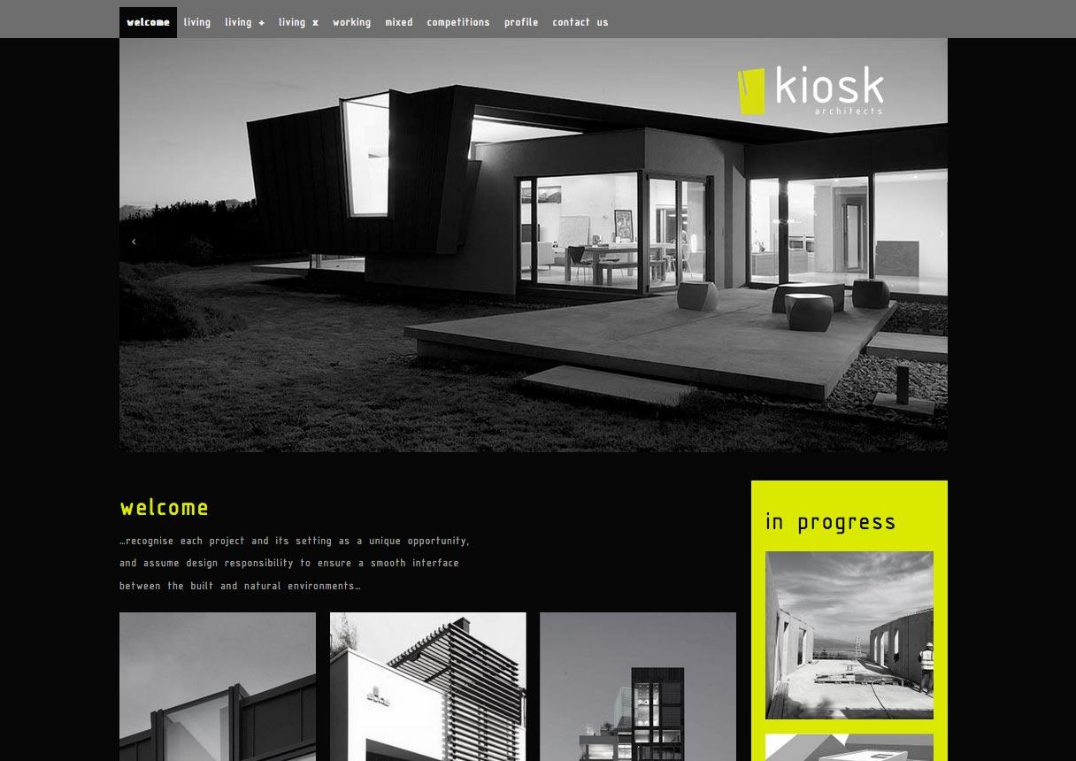 Client: Kiosk Architects | Visit Site. Kiosk Architects Website. Design ...